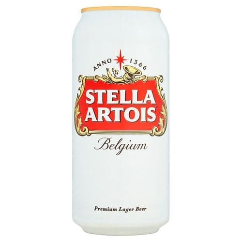 Stella Artois Lager Beer Can 4x440ml