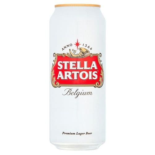 Stella Artois Lager Beer Cans 4x500ml