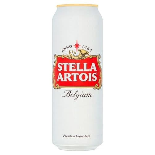 Stella Artois Lager Beer Cans 4x568ml