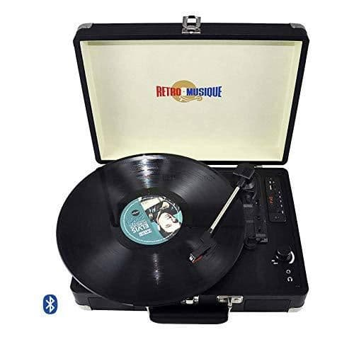 Retro Musique Bluetooth Suitcase Style Record Player