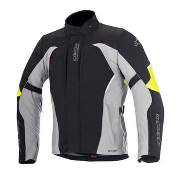 Alpinestars Ares Waterproof Gore-Tex Motorcycle Jacket Black Grey Fluo