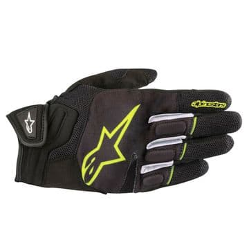Alpinestars Atom CE Short Motorcycle Motorbike Gloves Black & Fluo XL 2XL