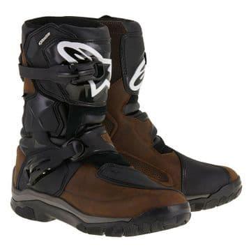 Alpinestars Belize Drystar Waterproof Motorcycle Motorbike Boots Oiled Brown