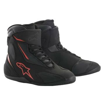 Alpinestars Fastback 2 Drystar Waterproof Motorcycle Shoe Boot Black Anth Red