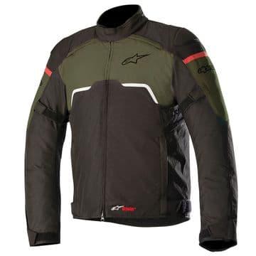 Alpinestars Hyper Drystar Waterproof Motorcycle Bike Jacket Black Military Green
