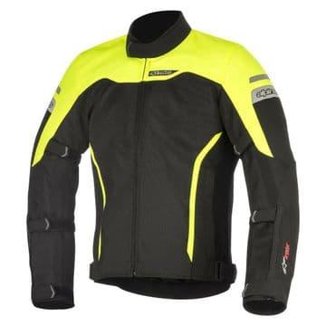 Alpinestars Leonis Air Waterproof Motorcycle Motorbike Jacket Black & Yellow