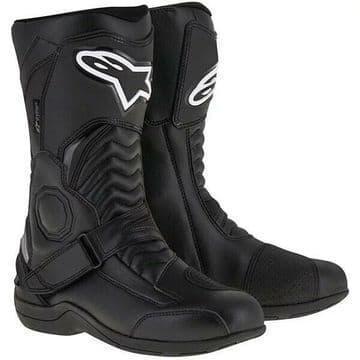 Alpinestars Pikes Drystar Waterproof Motorcycle Motorbike Boots - Black - EU42