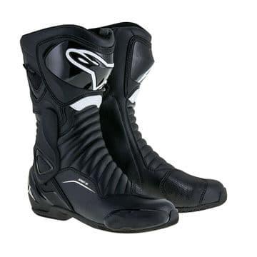 Alpinestars SMX 6 v2 Drystar Motorcycle Motorbike Waterproof Sports Boot Black