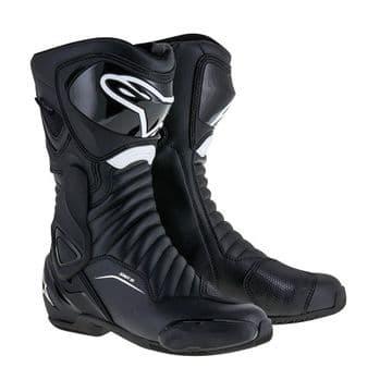 Alpinestars SMX 6 v2 Drystar Motorcycle Race Touring Waterproof Boot Black