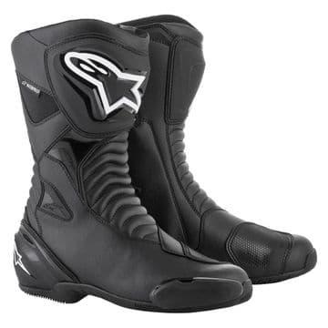 Alpinestars SMX S Waterproof Motorcycle Race Boots Black Black