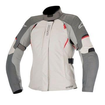 Alpinestars Stella Ares Gore-Tex Waterproof Motorcycle Motorbike Jacket Grey Red