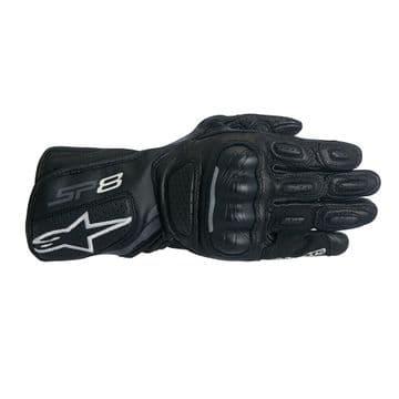 Alpinestars Stella SP-8 v2 Leather Black Dark Grey Motorcycle Motorbike Glove