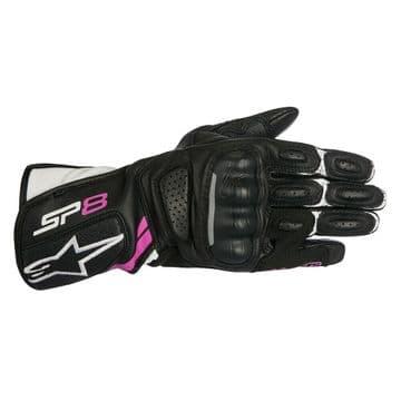 Alpinestars Stella SP-8 v2 Leather Black Fuchsia Motorcycle Motorbike Glove