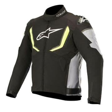 Alpinestars T-GP v2 Waterproof Motorcycle Motorbike Jacket Black Grey & Fluo