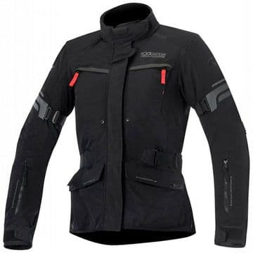 Alpinestars Valparaiso 2 Waterproof Motorcycle Motorbike Jacket Black Grey & Red