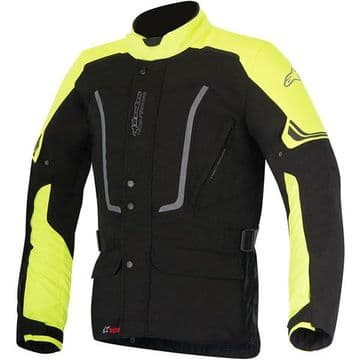 Alpinestars Vence Drystar Waterproof Motorcycle Motorbike Jacket - Black Fluo