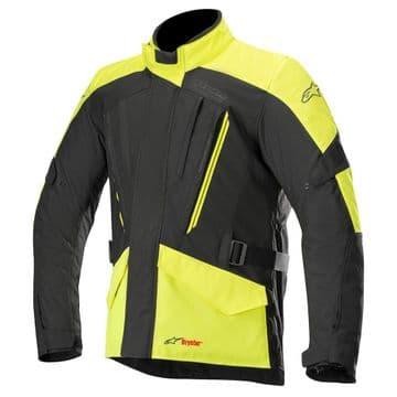 Alpinestars Volcano Waterproof Drystar Motorcycle Jacket Black Yellow Fluo
