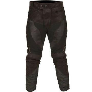 Buffalo Endurance Waterproof Leather Textile Mixed Trousers Pants Jeans - Black