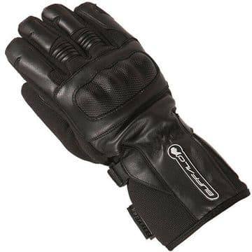 Buffalo Shadow Leather Textile Mix Motorcycle Motorbike Scooter WP Gloves Black