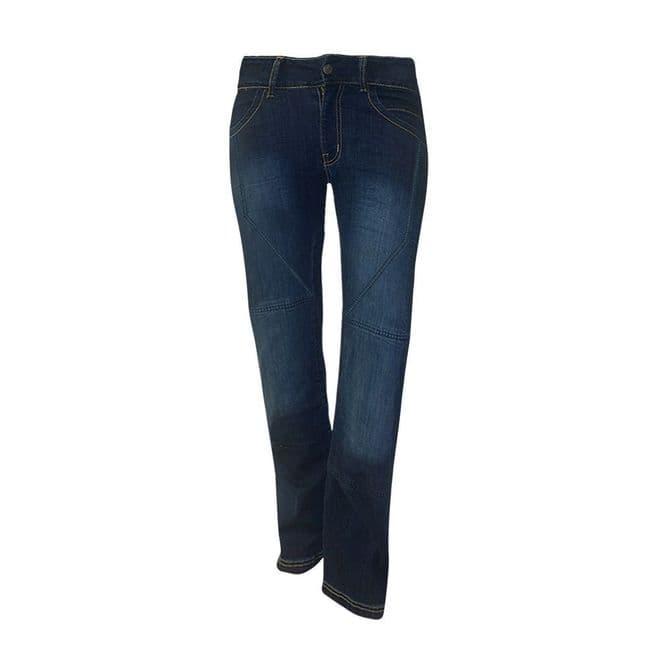 Bull-it Ladies SR4 Flex Blue Covec Armoured Motorcycle Jeans Regular Leg SALE