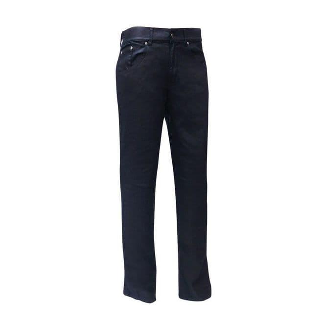 Bull-it Men's Oil Skin SR6 Black Covec Armoured Motorcycle Jeans Regular & Short