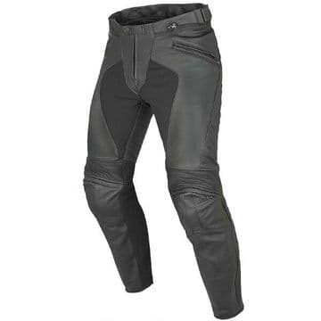 Dainese Pony C2 Leather Motorcycle Motorbike Jeans Trousers Pants - Black