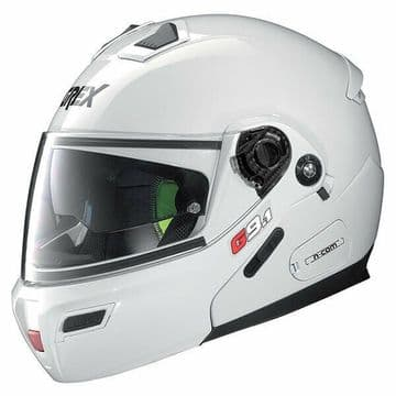Grex G9.1 Evolve Kinetic N-Com Flip Modular Motorcycle Bike Helmet Metal White