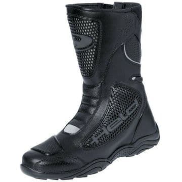 Held Camero Vented Motorcycle Motorbike Leather Touring Boots - Black EU41 UK7