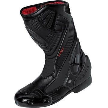 Held Epco Tex Leather Motorcycle Motorbike Waterproof Sports Race Boots - Black