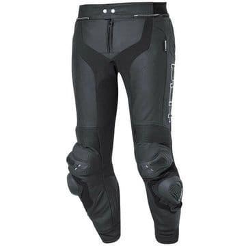 Held Grind Breathable Leather Motorcycle Motorbike Pants - Black - EU60