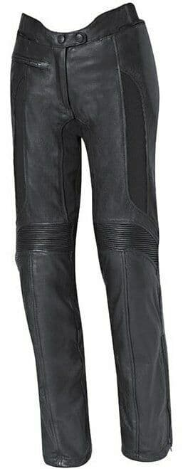 Held Ladies Ebony Leather Motorcycle Motorbike Pants Trousers D3O Armour
