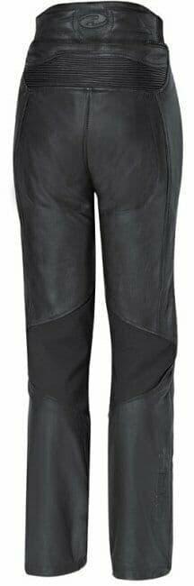 Held Ladies Ebony Leather Motorcycle Motorbike Pants Trousers D3O Armour - UK16