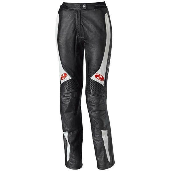 Held Ladies Sarana Leather Motorcycle Motorbike Pants Jeans D3O - Black / White