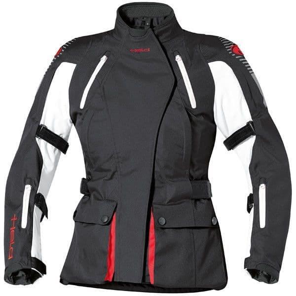 Held Ladies Tamira Waterproof Windproof Motorcycle Textile Jacket - Black/White