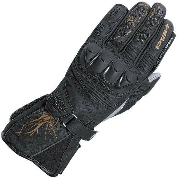 Held Ladies Tyra Leather Sports Motorcycle Motorbike Glove - Black