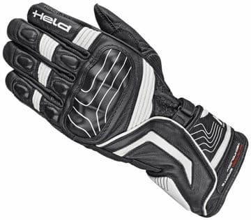Held Revel Goatskin Leather Motorcycle Motorbike Sports Gloves - Black White