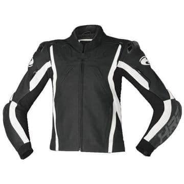 Held Road Leather Sports Motorcycle Motorbike Jacket - Black White