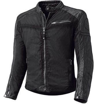 Held Street Hawk Leather Textile Mix Motorcycle Motorbike Jacket - Black