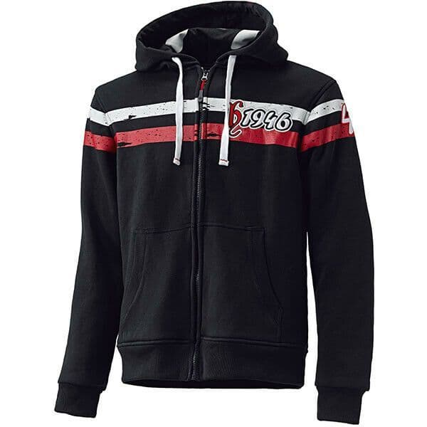 Held Tirano Black Red Motorcycle Motorbike Aramid Lined Hoodie - 4XL