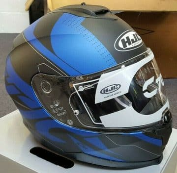 HJC C70 Boltas Blue Full Face Sun Visor Motorcycle Motorbike Helmet - Small