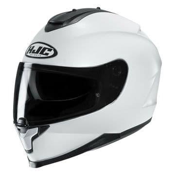 HJC C70 Gloss White Motorcycle Motorbike Helmet Internal Sunvisor Replaces IS-17