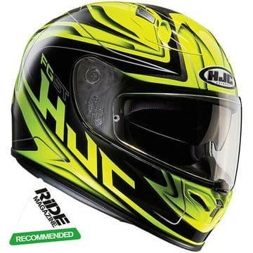 HJC FG-ST Crucial Fluo Yellow Fiberglass Motorcycle Motorbike Helmet - Pinlock