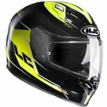 HJC FG-ST Full Face Motorcycle Helmet Bold Black Yellow - S XS - Free Pinlock