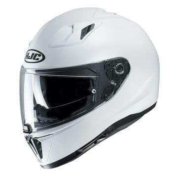 HJC I70 Pearl White Full Face Motorcycle Motorbike Helmet Medium - New for 2019