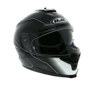 HJC IS-17 Arcus Black White Full Face Motorcycle Helmet - M XL Free Pinlock