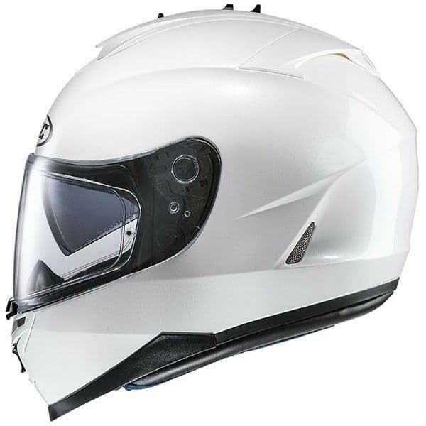 HJC IS-17 Plain Pearl White Full Face Motorcycle Helmet - 2XL Free Pinlock