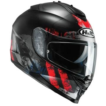 HJC IS-17 Shapy Red Full Face Motorcycle Motorbike Helmet - Extra Large XL