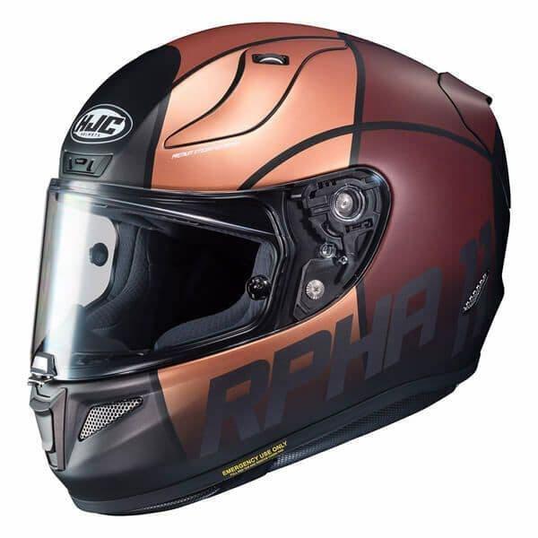 HJC RPHA 11 Quintain Gold Brown Motorcycle Motorbike Helmet Pinlock 2 Visors