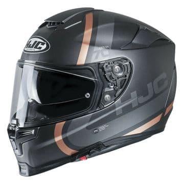 HJC RPHA 70 Gaon Gold Brown Silver Motorcycle Motorbike Full Helmet Free Pinlock