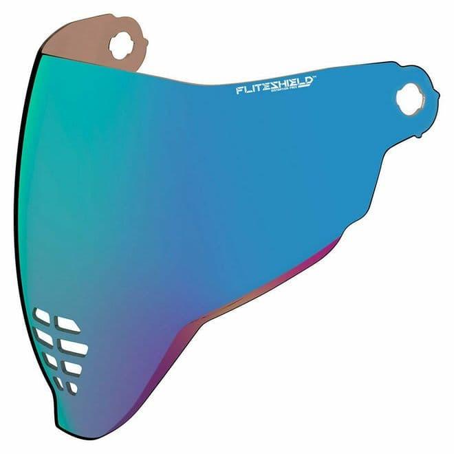 Icon Airflite Fliteshield Genuine Replacement Anti-fog Visor RST Blue Iridium